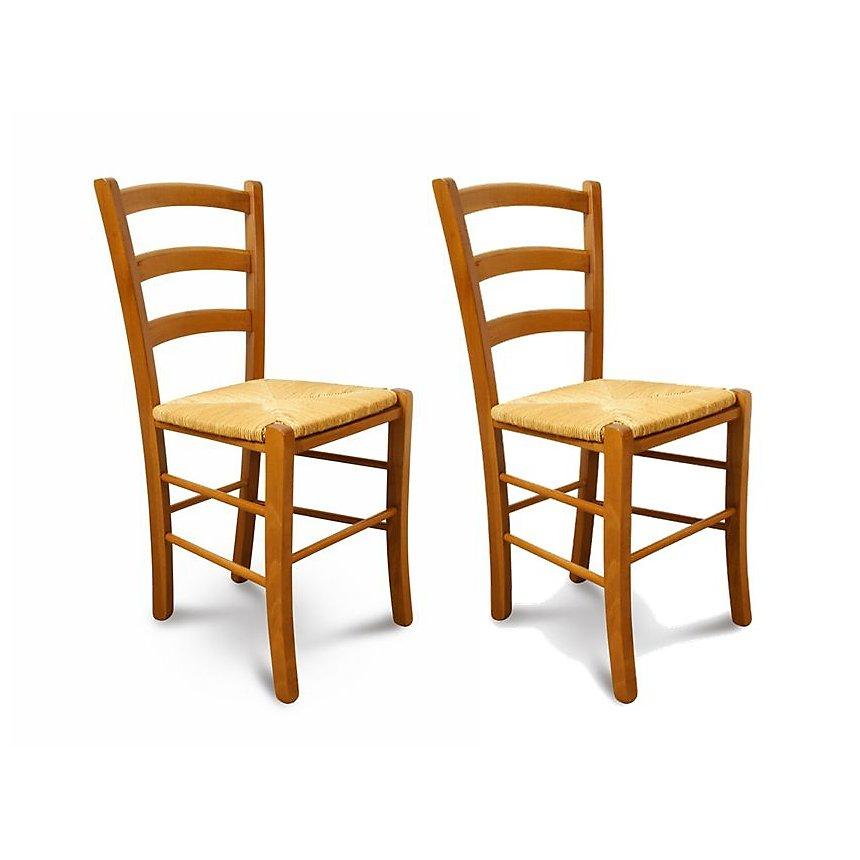 Lot De 2 Chaises TINA Assise Paille