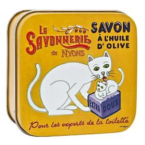 Savon Verveine 100 g et Boite Métal Chat