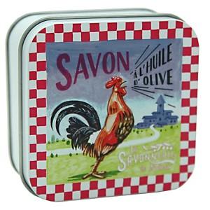 Savon Verveine 100 g et Boite Métal Coq