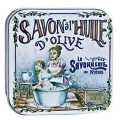 Savon Rose 100 g et Boite Métal Le bain