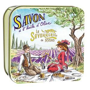 Savon Lavande 100 g et Boite Métal Pique