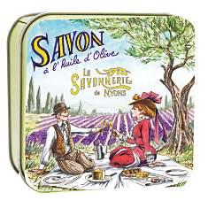 Savon Lavande 100 g et Boite Métal Pique...