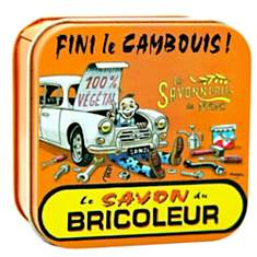 Savon boite métal Bricoleur