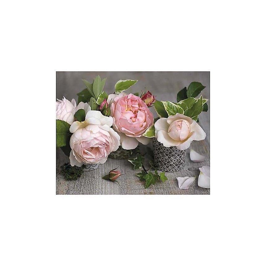 Trois roses, Catherine BEYLER, affiche 24x30 cm