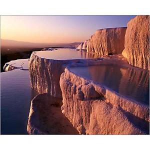 Bassins en terrasse, Turquie, Marc ROMANELLI, affiche 24x30 cm