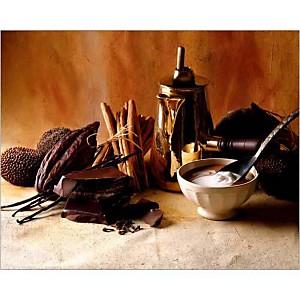Chocolat, crème, cannelle, C. RYMAN, P. CABANNES, affiche 24x30 cm