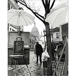 Place du Tertre, Montmartre , Elise HARDY, affiche 24x30 cm