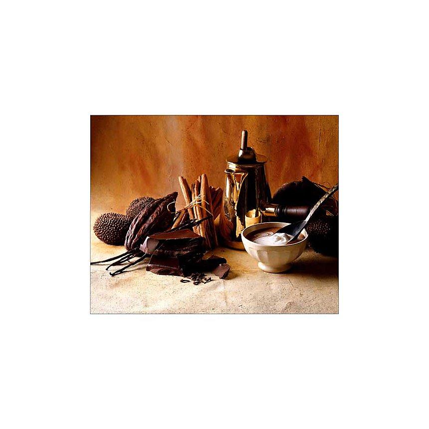 Chocolat, crème, cannelle, C. RYMAN, P. CABANNES, affiche 40x50 cm