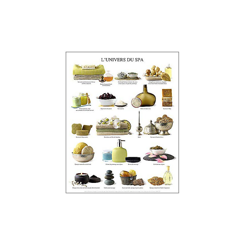 L'univers du spa, Atelier Nouvelles Images, affiche 24x30 cm