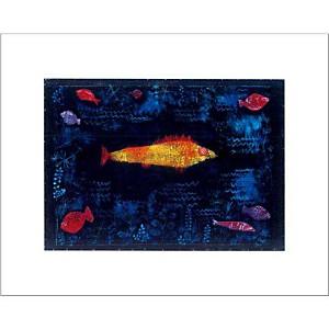 Le poisson rouge, Paul KLEE, affiche 40x50 cm