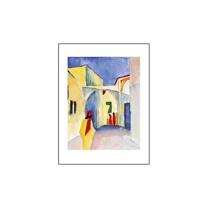 Regard sur une ruelle, August MACKE (1887-1914), affiche 60x80 cm