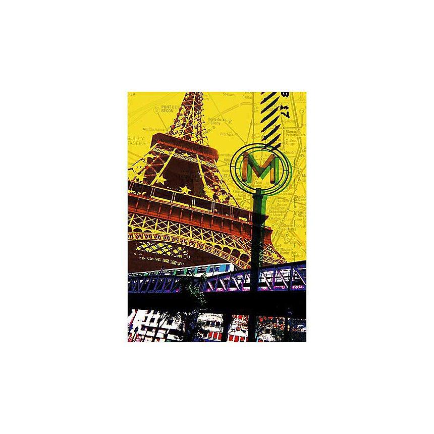 Paris Tour Eiffel , Maryse GUITTET, affiche 50x70 cm