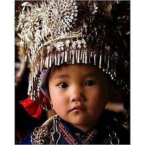 Petite Chinoise, Guizhou, Nevada WIER, affiche 24x30 cm