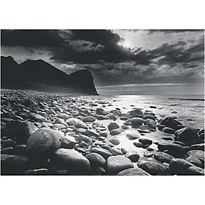 Iles Lofoten, Norvège, 1997, Olivier MERIEL, affiche 50x70 cm
