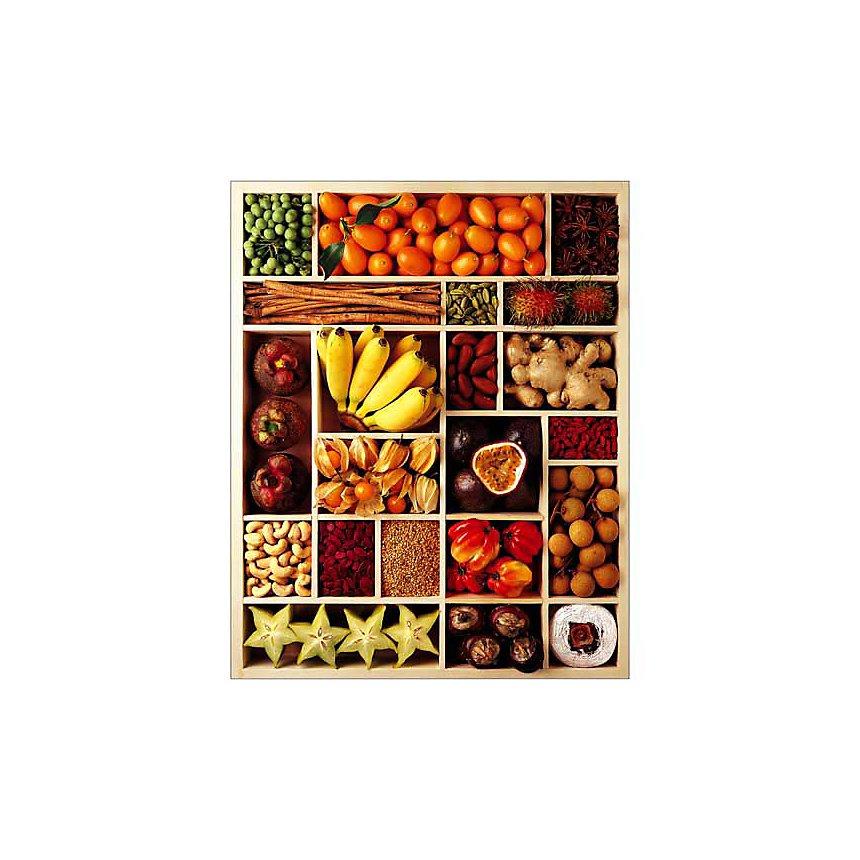 Fruits exotiques, Atelier Nouvelles Images, affiche 24x30 cm