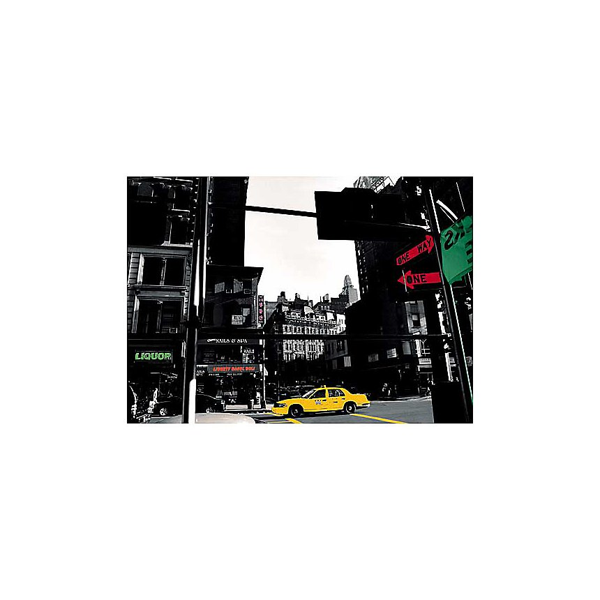 Taxi, New York , Anne VALVERDE, affiche 50x70 cm