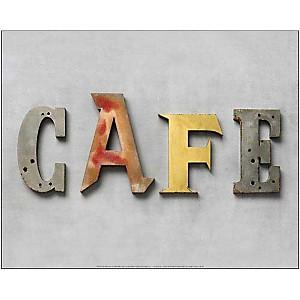 Café , Camille SOULAYROL, Louis GAILLARD, affiche 40x50 cm
