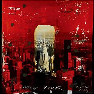 Chrysler Building, New York, 2004 , Tony SOULIE, affiche 70x70 cm