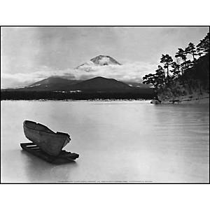 Le mont Fuji et le lac Yamanaka, Japon, Waldemar ABEGG, affiche 30x40 cm