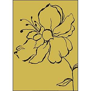 Fleur jaune, Léonor MATAILLET, affiche 50x70 cm