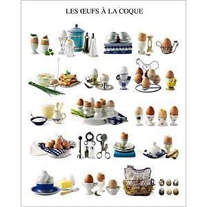 Les oeufs à la coque, Atelier Nouvelles Images, affiche 40x50 cm