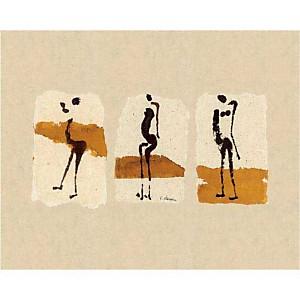Silhouettes d'Afrique, Charlotte DERAIN, affiche 40x50 cm