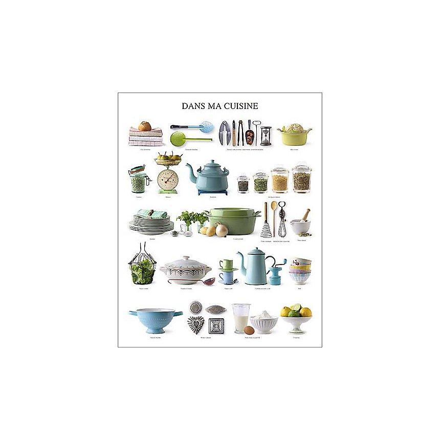 Dans ma cuisine, Atelier Nouvelles Images, affiche 40x50 cm