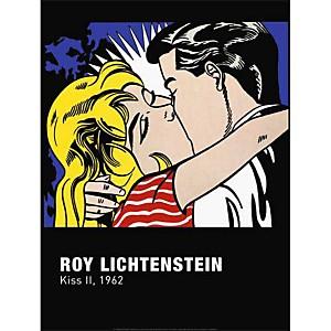 Kiss II, 1962 , Roy LICHTENSTEIN (1923-1997), affiche 60x80 cm