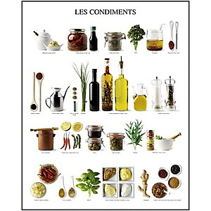 Les condiments, Atelier Nouvelles Images, affiche 40x50 cm