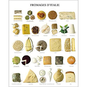 Fromages d'Italie, Atelier Nouvelles Images, affiche 40x50 cm