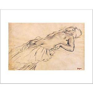 Nu couché, Edgar DEGAS (1834-1917), affiche 40x50 cm