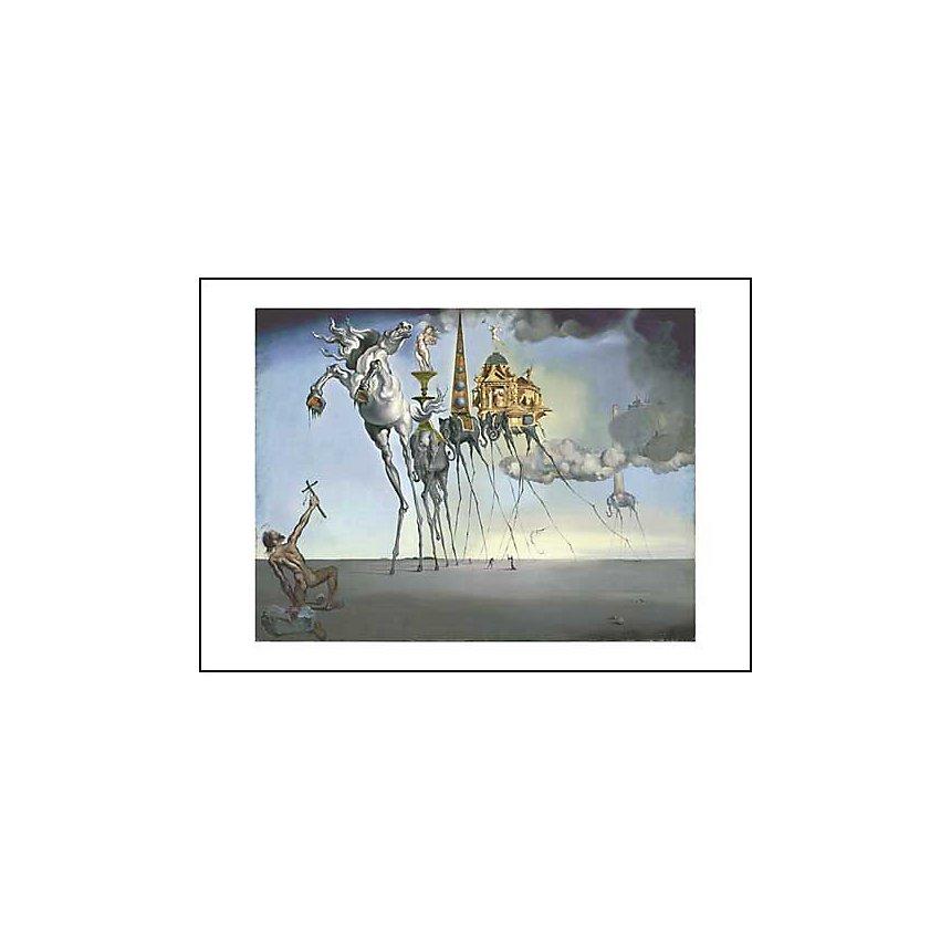 La tentation de saint Antoine, Salvador DALI (1904-1989), affiche 50x70 cm