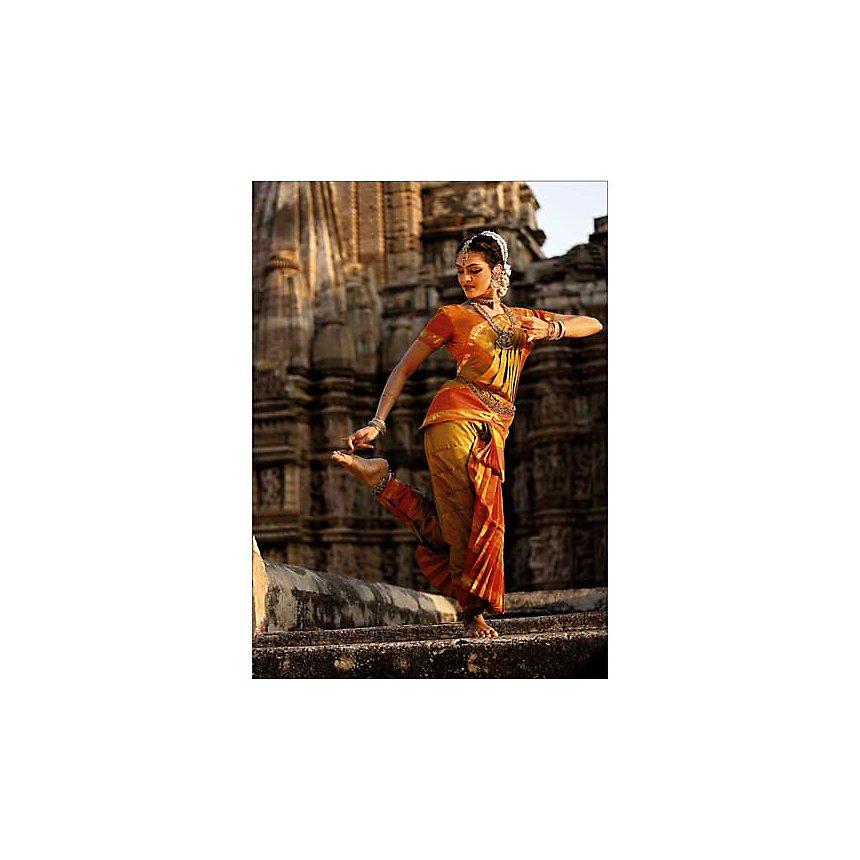 Danseuse de Bharatanatyam, Inde, Paule SEUX, affiche 50x70 cm