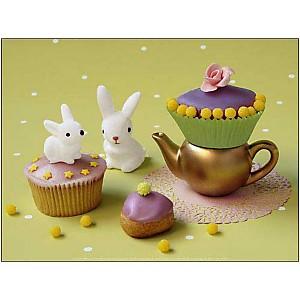 Cupcakes lapins, Camille SOULAYROL, Louis GAILLARD, affiche 30x40 cm