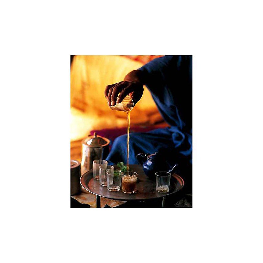 Cérémonie du thé, Mauritanie, 1999, Jean-Marc DUROU, affiche 24x30 cm