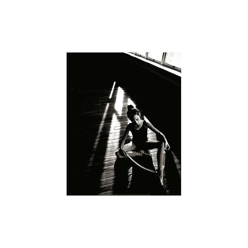 Ballerine , John T. WONG, affiche 40x50 cm