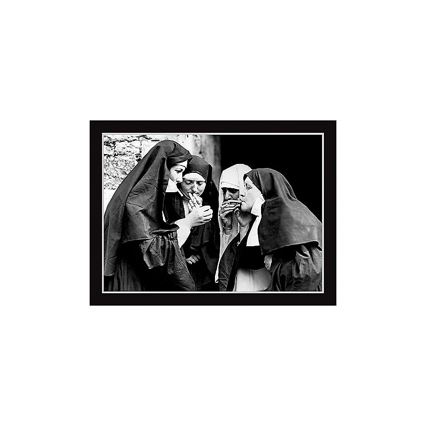Pause cigarette, Anonyme, affiche 30x40 cm