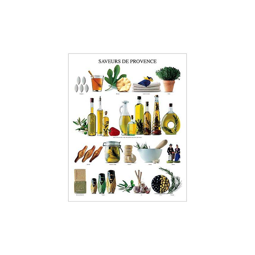 Saveurs de Provence, Atelier Nouvelles Images, affiche 40x50 cm