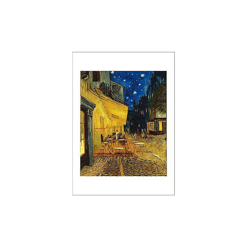 Terrasse du café le soir, Vincent VAN GOGH, affiche 50x70 cm