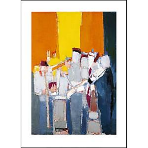Les musiciens, Nicolas DE STAAL (1914-1955), affiche 50x70 cm