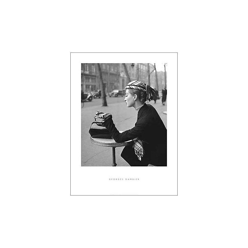 Capucine Café de la Paix , Georges DAMBIER, affiche 60x80 cm
