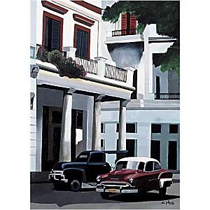Le Prado, La Havane, Cuba, Anne DU PLANTY, affiche 50x70 cm