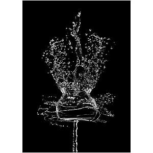 Jeu d'eau, Cédric PORCHEZ, affiche 50x70 cm