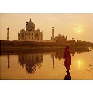Taj Mahal, Agra, Inde, Peter ADAMS, affiche 50x70 cm