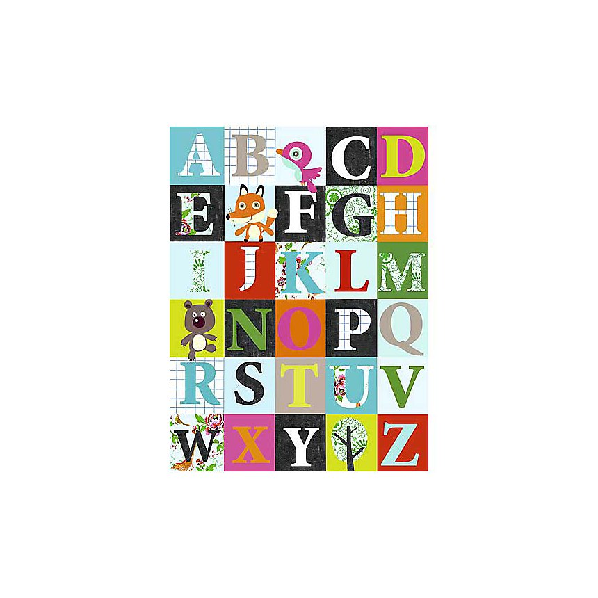 Alphabet, affiche 30x40 cm