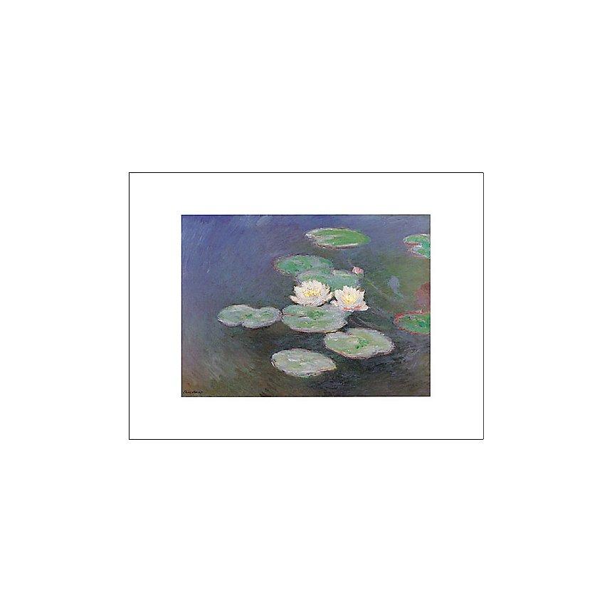 Nymphéas, effet du soir, Claude MONET (1840-1926), affiche 30x40 cm