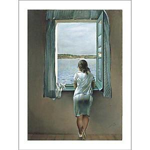 Personnage à la fenêtre, Salvador DALI (1904-1989), affiche 60x80 cm