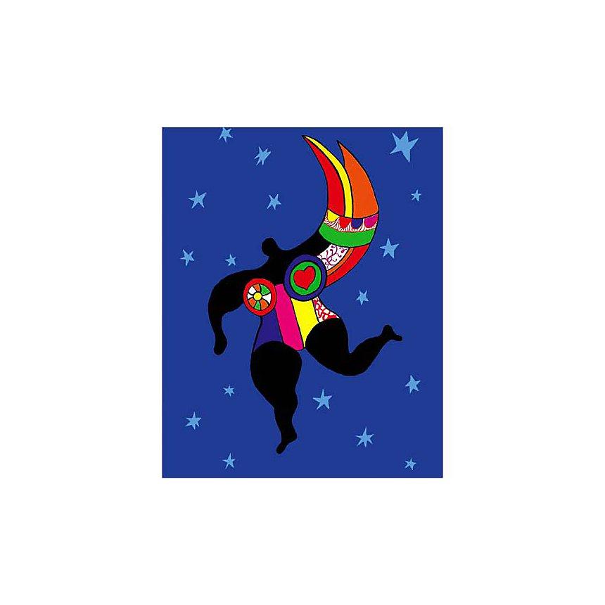 Mi-femme, mi-ange, Niki DE SAINT PHALLE (1930-2002), affiche 24x30 cm
