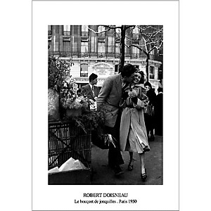 Les amoureux aux poireaux, Paris, 1950, Robert DOISNEAU (1912-1994), affiche 60x80 cm