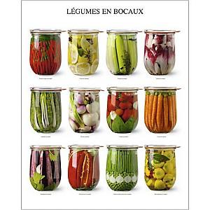 Légumes en bocaux, Atelier Nouvelles Images, affiche 40x50 cm